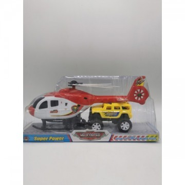 Helicopter with bus