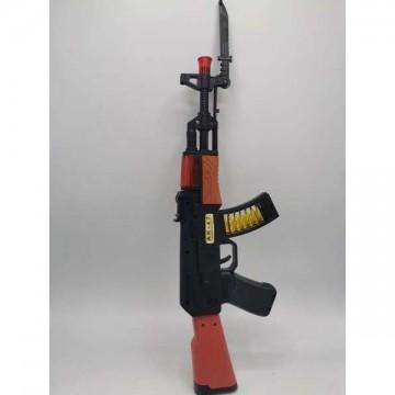 AK rifle - black in an envelope