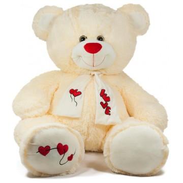TEDDY BEAR WITH SCARF-BEIGE