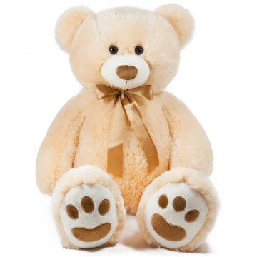 TEDDY BEAR WITH TAPE-BROWN