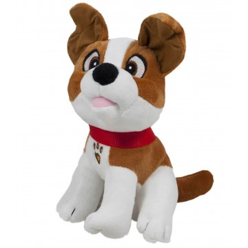PLUSH DOG WITH STRAP BROWN 23 cm