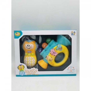 Baby phone set with trumpet