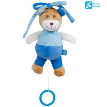 BABY TOY BEAR - Barrel-organ BLUE