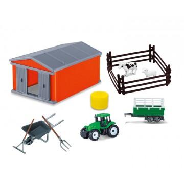 Farm set with barn