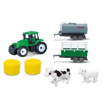 Farm set with bales