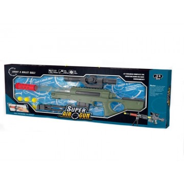 SNIPER WITH TRANSPARENT TUBE AND SOFT BALLS