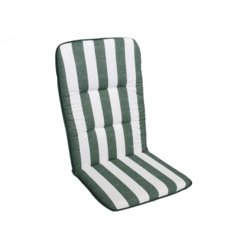 MULTIALTA - Outdoor Sunbed Cushion 115x50-cm GREEN stripes
