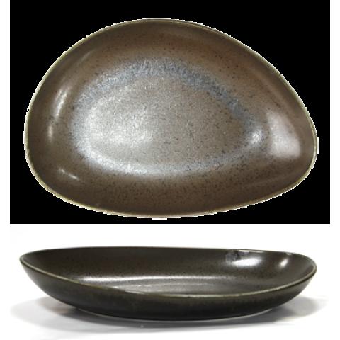 ANTIQUE-BLACK-Oval plate deep 30cm