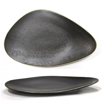 ANTIQUE-BLACK-Triangular plate 30cm