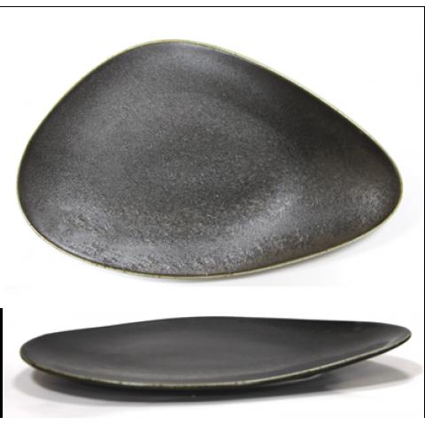 ANTIQUE-BLACK-Triangular plate 30cm