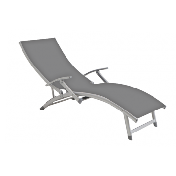 Aluminum sunbed with armrest