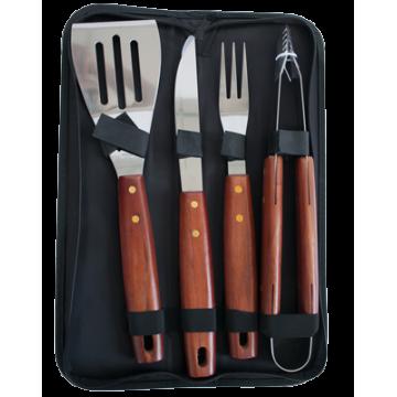 Set of 4pcs BBQ tools in a textile bag №1