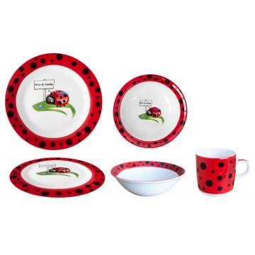 Children's service of 3 parts - ladybug