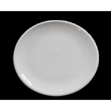 GIULIA white round plate 20,5 cm