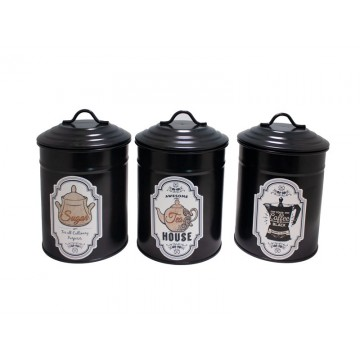 FERONYA-Metal container for spices BLACK 1pc.