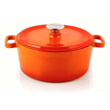 Silver - cast iron pot 24 cm