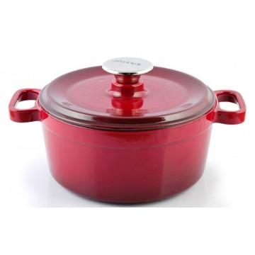 Silver - cast iron pot 20 cm