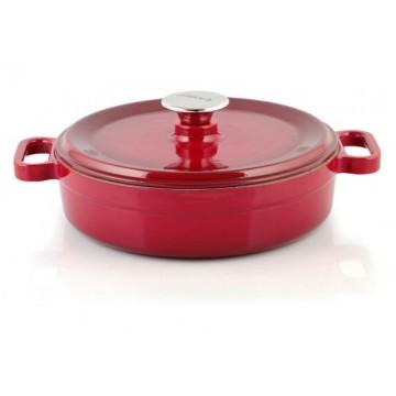 Silver - cast iron pot - shallow