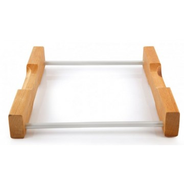Silver-wooden base for tray 22x30