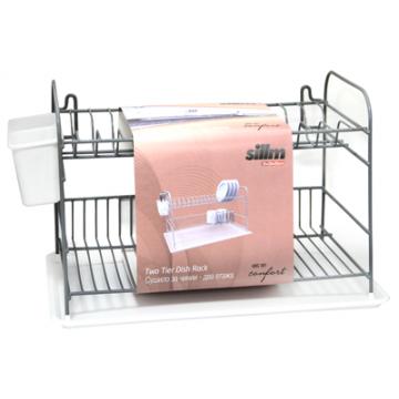 Dish rack GREY/TRANSPARENT