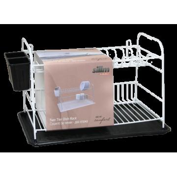 Dish rack WHITE/BLACK