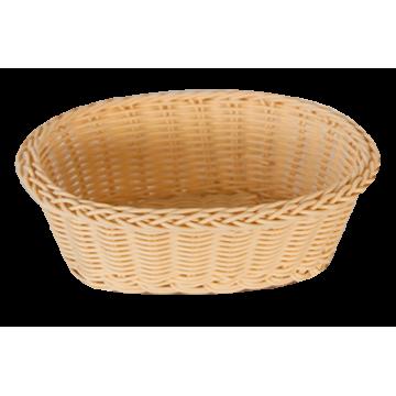 WATERPROOF basket ellipse Natural 21x16x7 cm