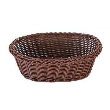 WATERPROOF ellipse basket brown 21x16x7 cm