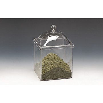 ACRYLEN Square container with lid 15x15cm