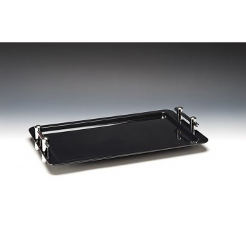 ACRYL Catering rectangular tray 32x53 cm BLACK