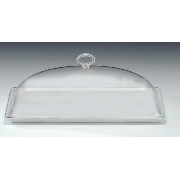 ACRYLEN Rectangular tray BLACK set with cover 18x35cm