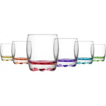 ART ADORA - glasses of color 6 pcs. 290 cc