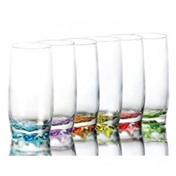 ART ADORA - glasses of color 6 pcs. 390 cc