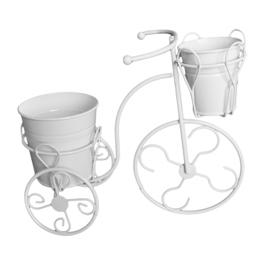 Decorative bicycle with two pots SMALL