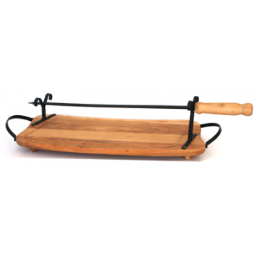 Board for Roast Meat with 1 pc. skewer - 50 cm.