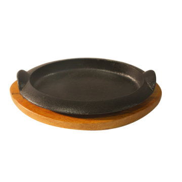Cast Iron Oval Casserole Pan with Handles and padding