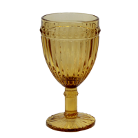 OLD SCHOOL-YELLOW Glass tumbler for white wine