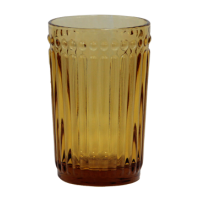 OLD SCHOOL-YELLOW Glass tumbler for beverages