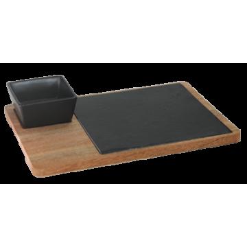 Mahagony Wood Tray 30х22 cm