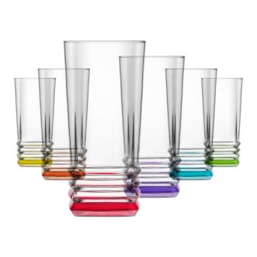 CORAL - colored glass 6 pcs. 335 cc