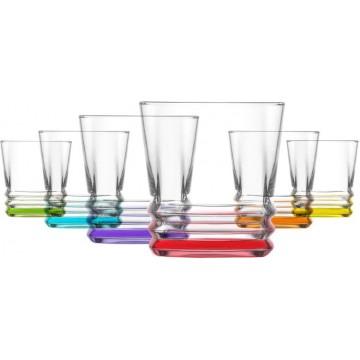CORAL - color cups 6 pcs. 315 cc