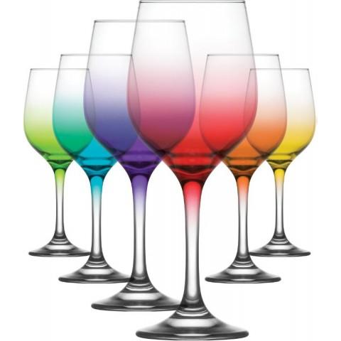 ART FAME - wine glass colored 6 pcs. 395 cc