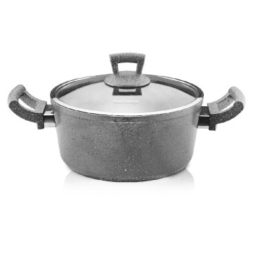 HR-GRANITE Casserole 3L gray