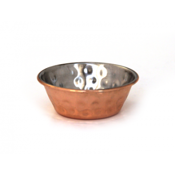 Metal sauce bowl copprt coated 1.5 OZ