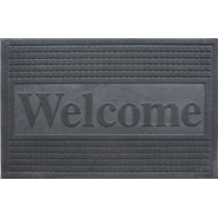 Color doormat WELCOME 40x60cm GREY