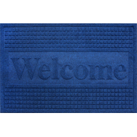 Color doormat WELCOME 40x60cm BLUE