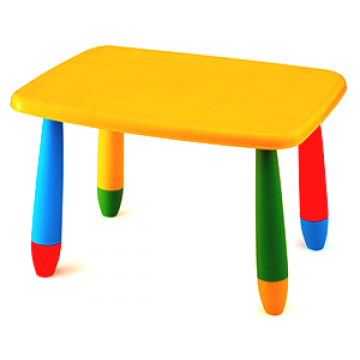CHILDREN'S PLASTIC rectangular table 72,5*57 cm