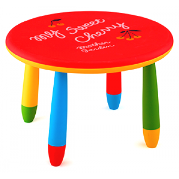 CHILDREN'S TABLE ROUND PLASTIC Ф70cm