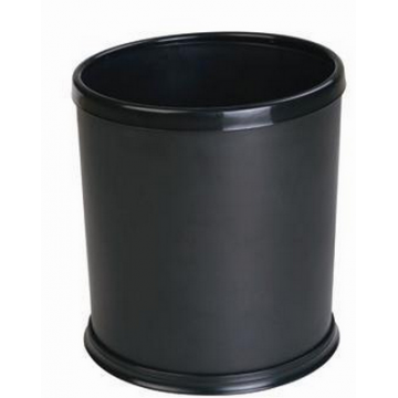 Hotel dustbin with movable ring for bag BLACK 24 cm