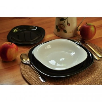 Dinner set LUMINARC CARINE black and white 18 pcs