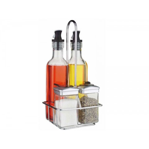 Oil and Vinegar Dispensers 5 Piece Combo Set - EASY LIFE
